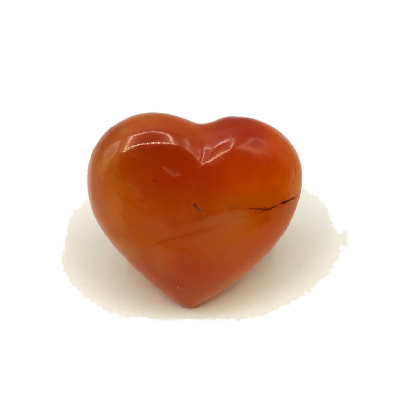 Kleines Herz aus Karneol